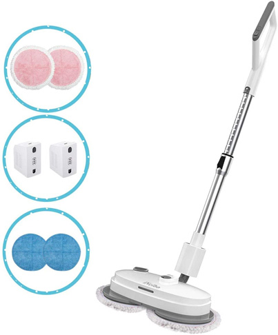 6. iNeibo Cordless Electric Mop for Hardwood Tile Marble -Preferred