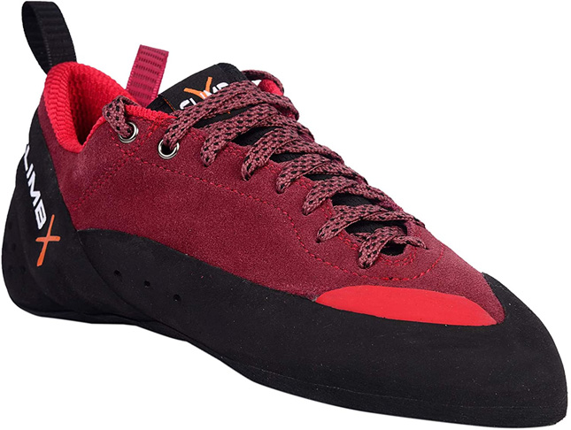 10. CLIMBX Crush Lace Bouldering Shoe 2019 -Red