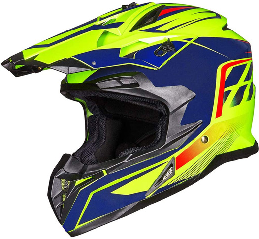 5. ILM ATV Motocross Off-Road Full Face Helmet (XL, Yellow Blue)
