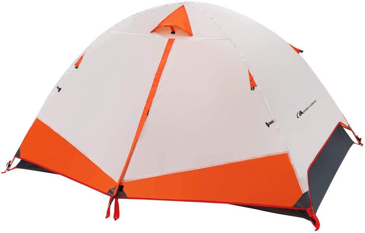 4. MOON LENCE Camping Tent 1 and 2 Person Backpacking Tent -Preferred