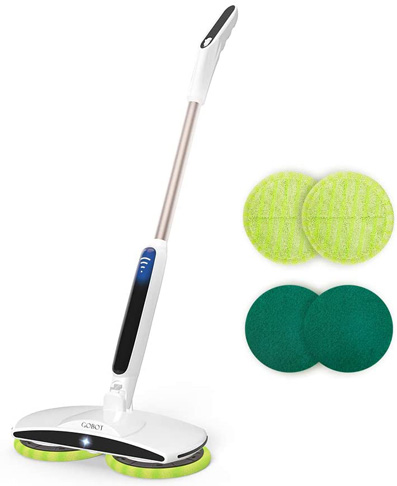 3. GOBOT Cordless Scrubber Electric Mop Floor, White