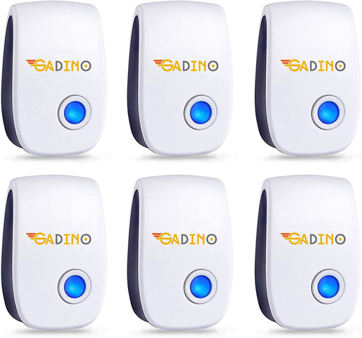 1. GADINO Ultrasonic Mosquito Repellent, 6 Packs -Preferred