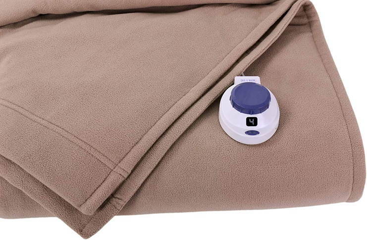 2. SoftHeat by Perfect Fit Heated Electric Blanket (Twin, Beige)