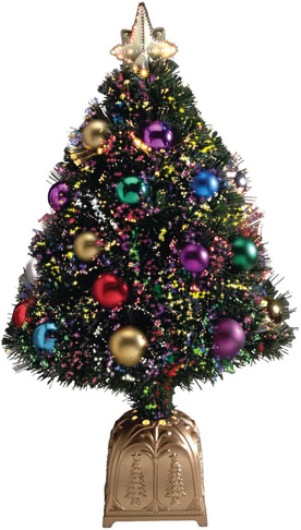 2. HOLIDAY PEAK 32-in Tall Fiber Optic Christmas Tree - Preferred
