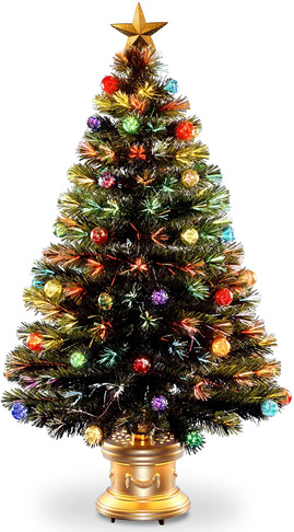 1. National Tree 27X27X48 Optic Ornament Fireworks Tree - Preferred