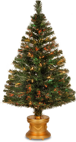8. National Tree SZEX7-100L-48 48 Inch Fiber Optic Firework Tree