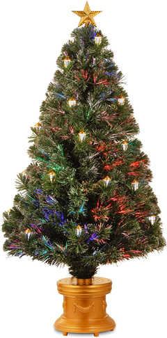 10. National Tree SZLX7-111L-48 Fiber Optic Lantern Fireworks Tree
