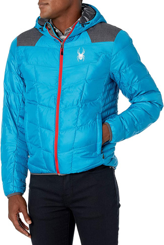 5. Spyder Men's Geared Hoody Synthetic Down Jacket