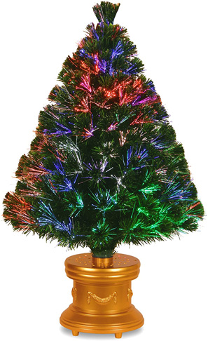 4. National Tree SZEX7-100L-36-1 Fiber Optic Firework Tree - Preferred