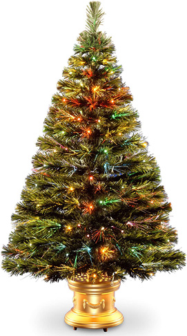 3. National Tree SZRX7-100L-48 Fiber Optic Fireworks Tree