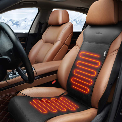 1. KINGLETING Heated Seat Cushion with Intelligent Temperature Controller (12Volt,Black)