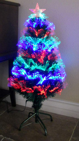 7. TEKTRUM 36 INCH Color Changing Fiber Optic Lights Tree - Preferred