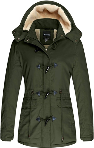 4. Wantdo Women's Thicken Cotton Winter Coat with Removable Hood