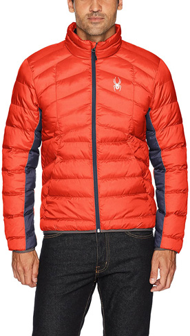 3. Spyder Men's Burst/Frontier Geared Synthetic Down Jacket