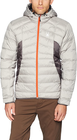 6. Spyder Men's Geared Hoody Synthetic Down Jacket