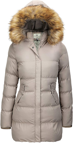 6. WenVen Women's Thicken Puffer Winter Coat with Removable Hood
