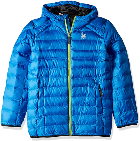 9. Spyder boys Geared Hoody Synthetic Down Jacket