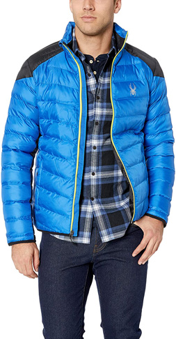 2. Spyder mens Turkish Sea Geared Synthetic Down Jacket