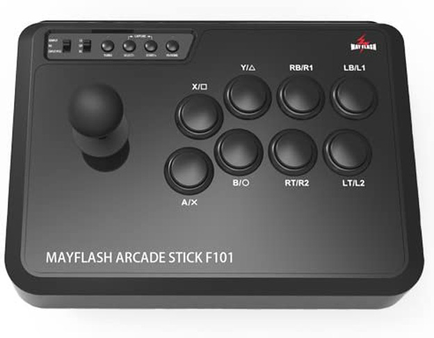 7. MAYFLASH Arcade Stick F101 for Nintendo Switch/PC