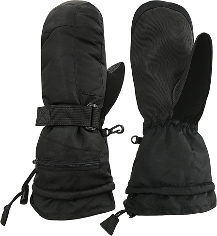 2. N'Ice Caps Women's 100 Gram Waterproof Ski Mittens