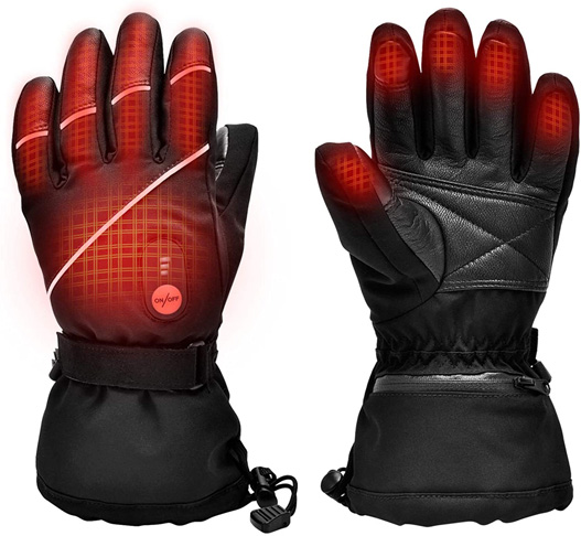 6. SNOW DEER Upgraded Heated Ski Gloves for Women