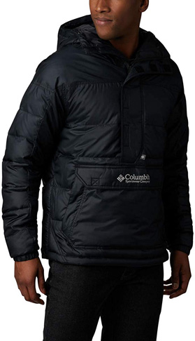 1. Columbia Men's Lodge Pullover Synthetic Down Jacket -Preferred