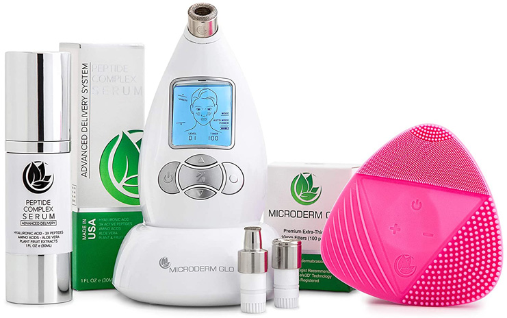 8. Microderm GLO Complete Diamond Microdermabrasion System, (White)