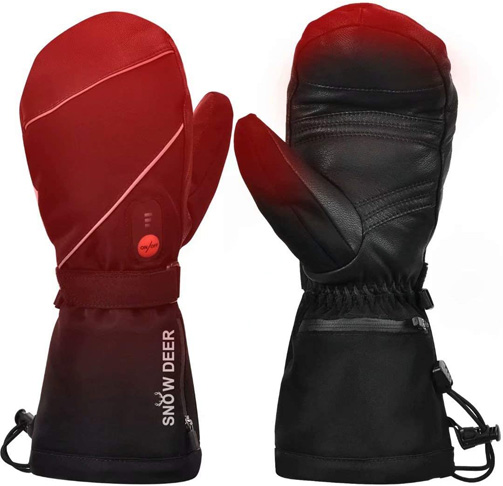 7. Snow Deer Heated Ski Mittens Womens