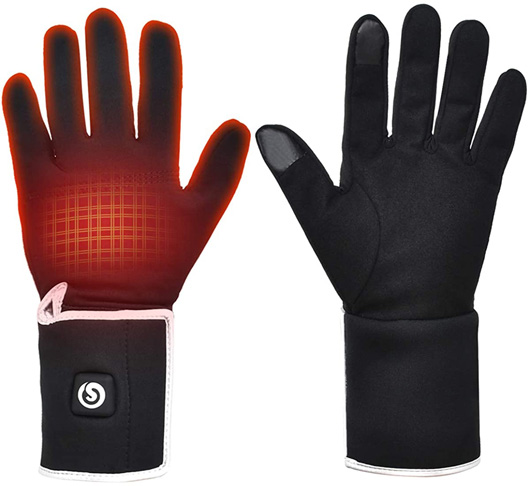 5. SNOW DEER Heated Glove Liners for Men Women