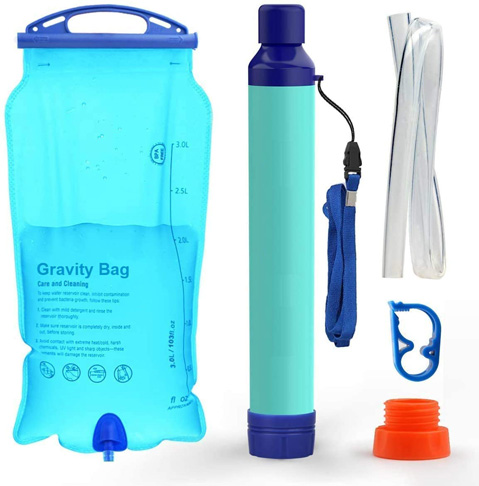 7. WakiWaki Gravity Water Filter Straw for Camping -Preferred