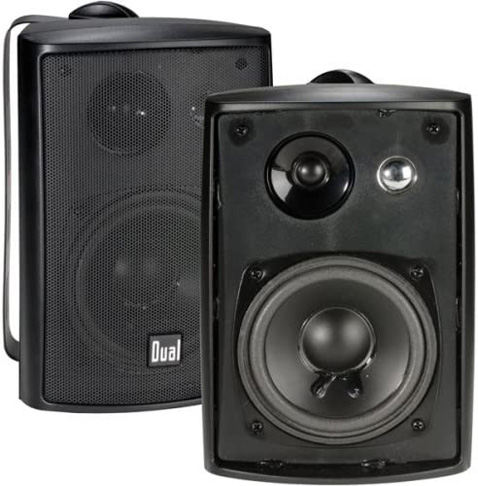 3. Dual Electronics LU43PB 3-Way Outdoor Speakers with Powerful Bass
