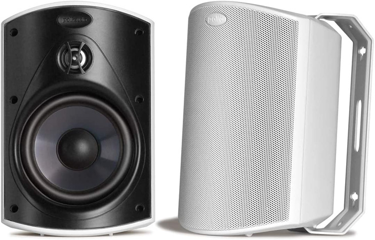9. Polk Audio Atrium 5 Outdoor Speakers with Bass -Preferred