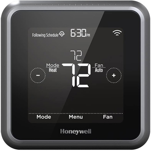 4. Honeywell Home T5 Lyric Round Wi-Fi Thermostat, Black