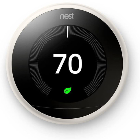 1. Google Nest 3rd Generation White Learning Thermostat