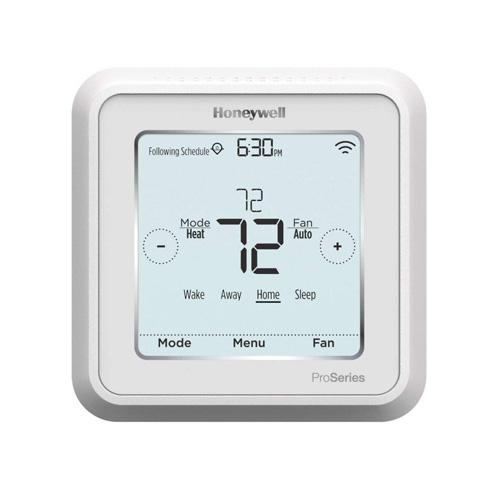 6. Honeywell Lyric T6 Pro Wi-Fi Programmable Thermostat