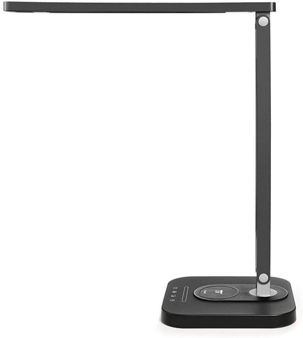 2. TaoTronics LED Desk Lamp with Qi-Enabled Wireless Fast Charger -Preferred