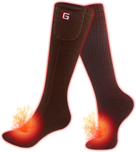 6. Greensha Electric Heated Socks With Rechargeable Battery