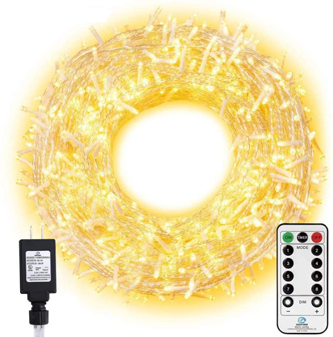 6. Ollny LED Christmas Tree Lights with Remote