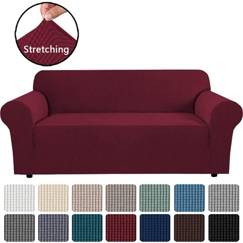 3. H.VERSAILTEX Stretch Sofa Covers Couch Cover, 1-Piece