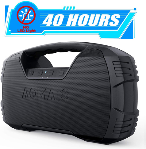 5. AOMAIS Portable Waterproof Bluetooth Speaker -Preferred