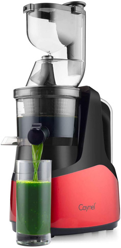 6. Caynel Whole Slow Masticating Cold Press Juicer (Red) -Preferred