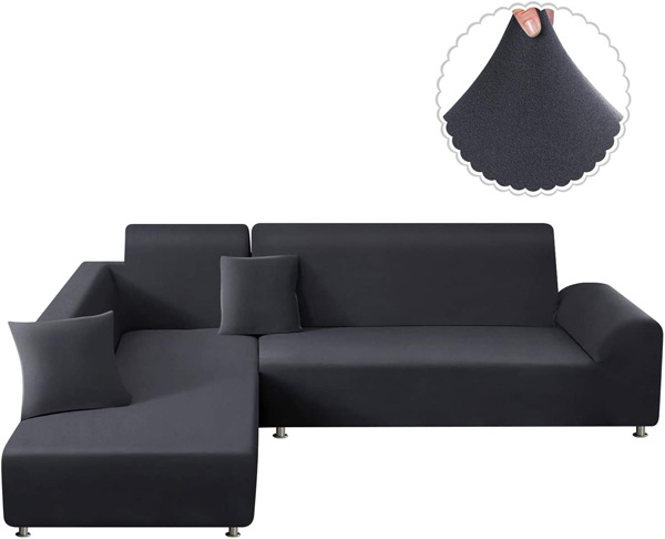 6. TAOCOCO 2pcs L-Shaped Couch Sofa Covers