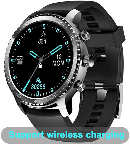 8. Tinwoo Smart Watch for Men, Support Wireless Charging