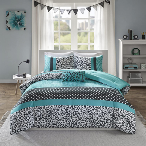 3. Mi Zone Chloe Comforter Set-Teal -Preferred