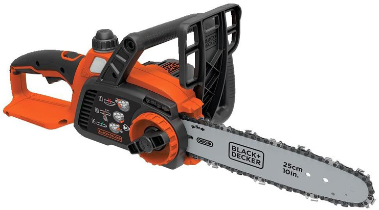1. BLACK+DECKER 20V Max Cordless Chainsaw, 10-Inch, Tool Only (LCS1020B)
