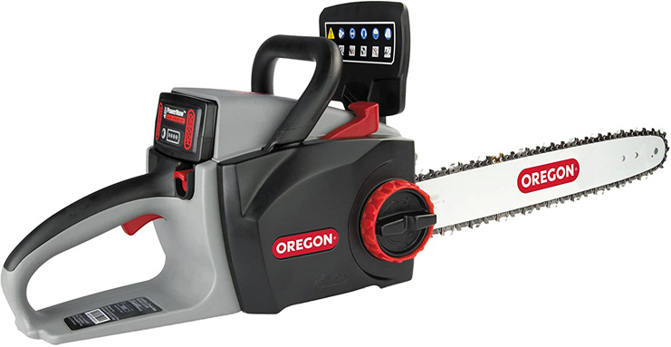 9. Oregon Cordless 16-inch Chainsaw