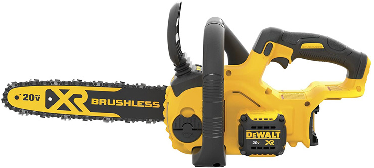 2. DEWALT 20V MAX XR 12-Inch, Chainsaw, (DCCS620B) -Preferred