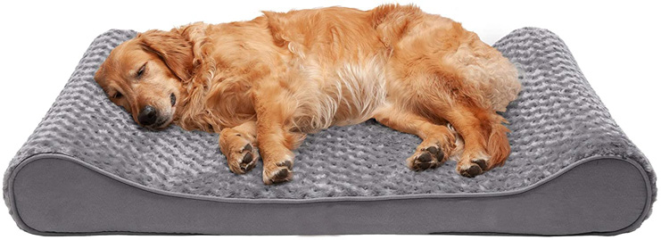 4. Furhaven Pet Contour Orthopedic Mattress Dog Bed