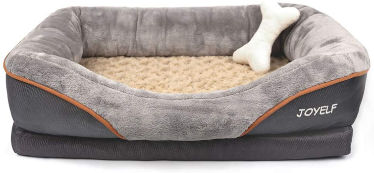 3. JOYELF Orthopedic Memory Foam Dog Bed -Preferred