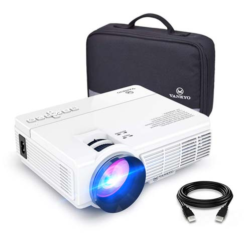 1. Vankyo 2400 Lux LED Portable Projector with Carrying Bag - Preferred